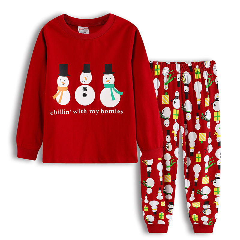 new kids baby cotton pajamas clothes cute childrens christmas pajamas set sleepwear pyjama enfant new years baby girls clothes