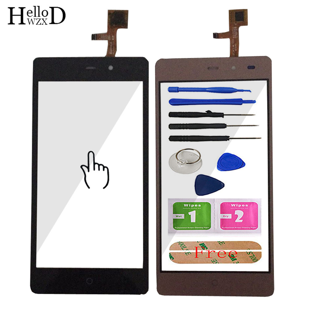 HelloWZXD Touch Screen Glass Front High Glass Digitizer Panel For LEAGOO Z5 Lens Sensor Flex Cable Tools + Free Adhesive Gift