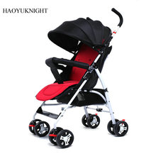 HAOYU KNISGHT baby stroller ultra-light foldable baby umbrella can sit on the baby carriage Baby lightweight trolley