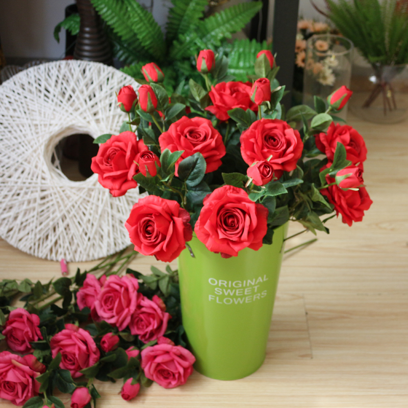 Artificial Rose,table Centerpieces 12pcs Real Touch Large Roses U0026 Vase  Set,home Wedding Decoration Flowers Arrangement Part 35