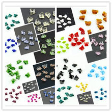 Various Color 1000pcs 14mm Crystal Butterfly Beads Middle Hole Garland Chandelier Hanging Pendant Lamp Light Parts(China)