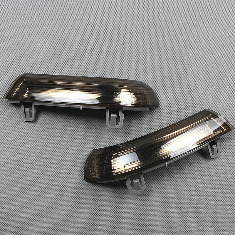 1 paar Auto Styling Links + Rechts Spiegel Blinker Anzeige Licht Rauch Objektiv Für V-W J-etta G -olf GT-I MK-5 P-assat S-KODA