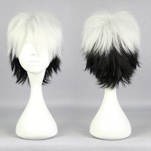 RH2956 fast shipping New Black And white Short Cosplay Wig  (D Special discount 35%)