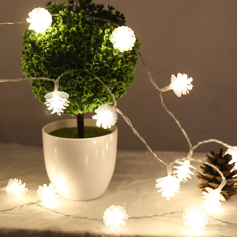 Led String Adroit Led Pinecone Fairy String Lights 2m//5m/10m/20m Aa Battery Operated Christmas Garland For Holiday Wedding Party Decoration A Great Variety Of Goods Led Lighting