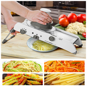 Image 3 - NEW 18 Type of Use Mandoline Vegetable Slicer Stainless Steel Multifunctional Fruit Onion Potato Cutter Chopper Kitchen Gadgets