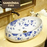 Counter basin oval shape ceramic art basin wash