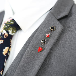 KBAP 4pcs Lapel Pin for Women Men Suit Brooch Badge Collar