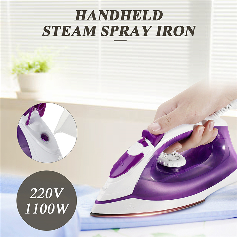 Portable 1 PC Purple White 200ML Tank 220V Handheld Steam Spray Iron Wet And Dry Two-way Iron Household Garment Steamer portable abs iron pet pooper scooper black purple