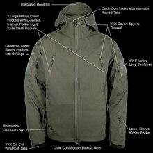 TAD V 4.0 Lurker Shark Skin Softshell Jacket Men Tactical Jacket Waterproof Windproof Hunting Military Pants Winter Clothes