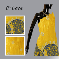 High Quality African George With Blouse 100 Cotton Fabric Sequins Indian Raw Silk Geroge For Nigerian