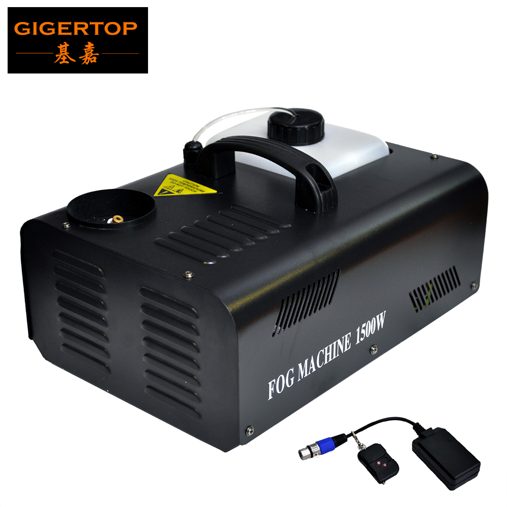 Freeshipping 1500W Upward Fog Machine AC110V-220V Cover 100m2 Party DMX and Remote Control Up Shot Fog Machine Vertical Fogger