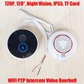 720 P Wi-Fi Камеры Видео-Дверной Звонок Дистанционного Домофон Водонепроницаемый беспроводной 2 Способ Аудио Домофон iOS Android Дверной Звонок SD Карты хранения