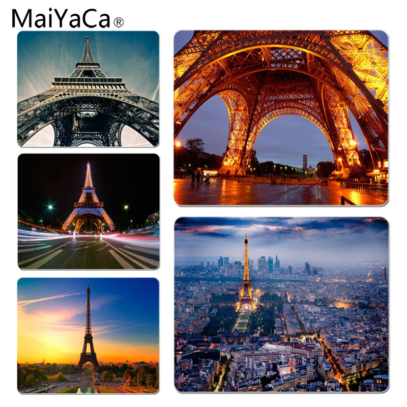 MaiYaCa Non Slip PC Eiffel Tower Laptop Gaming Mice Mousepad Size for 18x22cm 25x29cm Rubber Mousemats