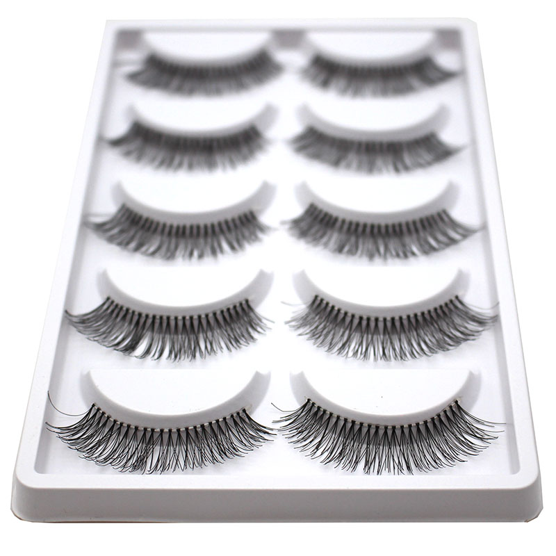 5pairs Soft Long Makeup Cross Thick False Eyelashes Eye Lashes Nautral Handmade Hot Sale Natural Eyelashes