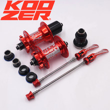 KOOZER XM470 MTB Hub 32 Hole Mountain Bike Disc Brake Bearing Hubs Bicycle Front Rear XD QR&Thru Black Red(China)