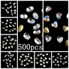 500pcs Clear AB DIY Nails Pointback Nail Stickers Crystal Craft Art Charm Gems Big Pack Wholesale