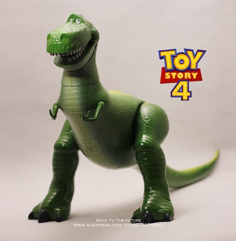 Disney jouet histoire 4 Rex le dinosaure vert parlant Q Version 30cm PVC figurines mini poupées enfants jouets modèle pour enfants cadeau