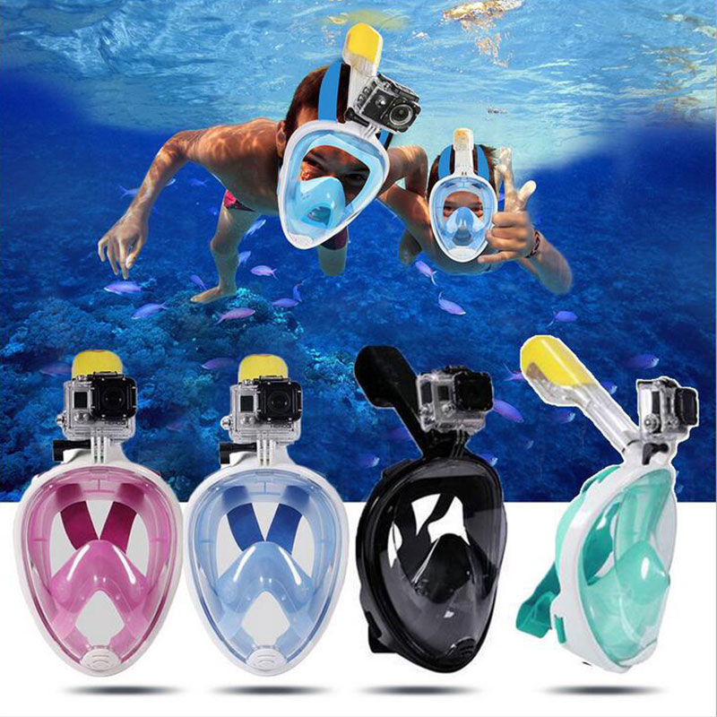 Scuba Diving Mask Full Face Snorkeling Mask Anti Fog Underwater Snorkel Mask for Snorkel Swimming Diving Equipment Men Women in Diving Masks from Sports Entertainment