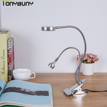 Cold/Warm Light led table lamp desk table light led desk lamps flexible lamp office table light led lamp table(China)