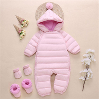 Baby Snowsuit Duck Down Rompers Bebe Clothes Overalls Kids Newborn Winter Clothes Windproof Girl Boy Warm Winter Rompers Hooded