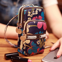 POMER Cell Phone Pouch Outdoor Sports 3 Layers Zipper Waterproof Nylon For IPhone 6 7