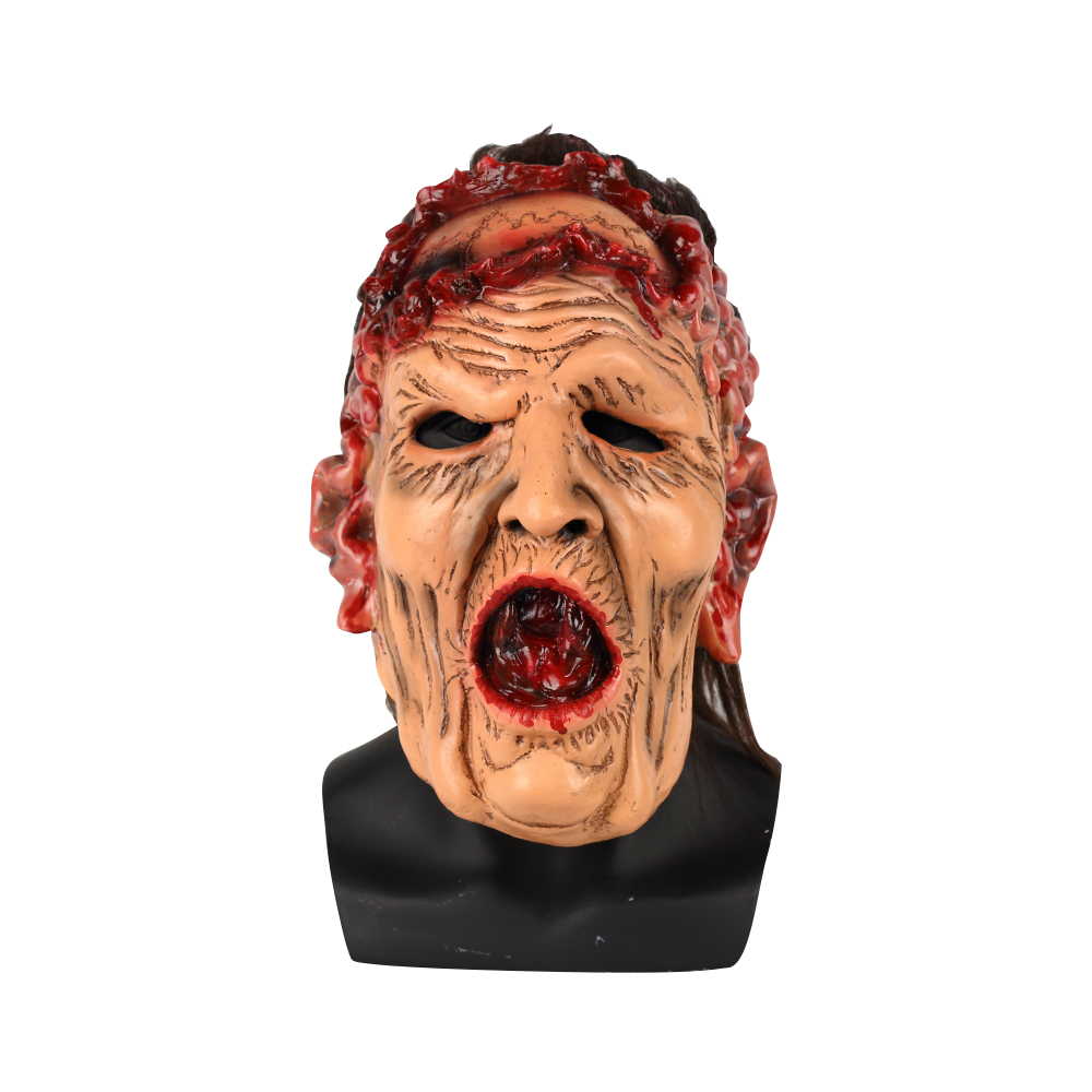 Rotten Face Mask Halloween Cosplay Scary Old Woman Witch Halloween Party Funny Masquerade Mask Props
