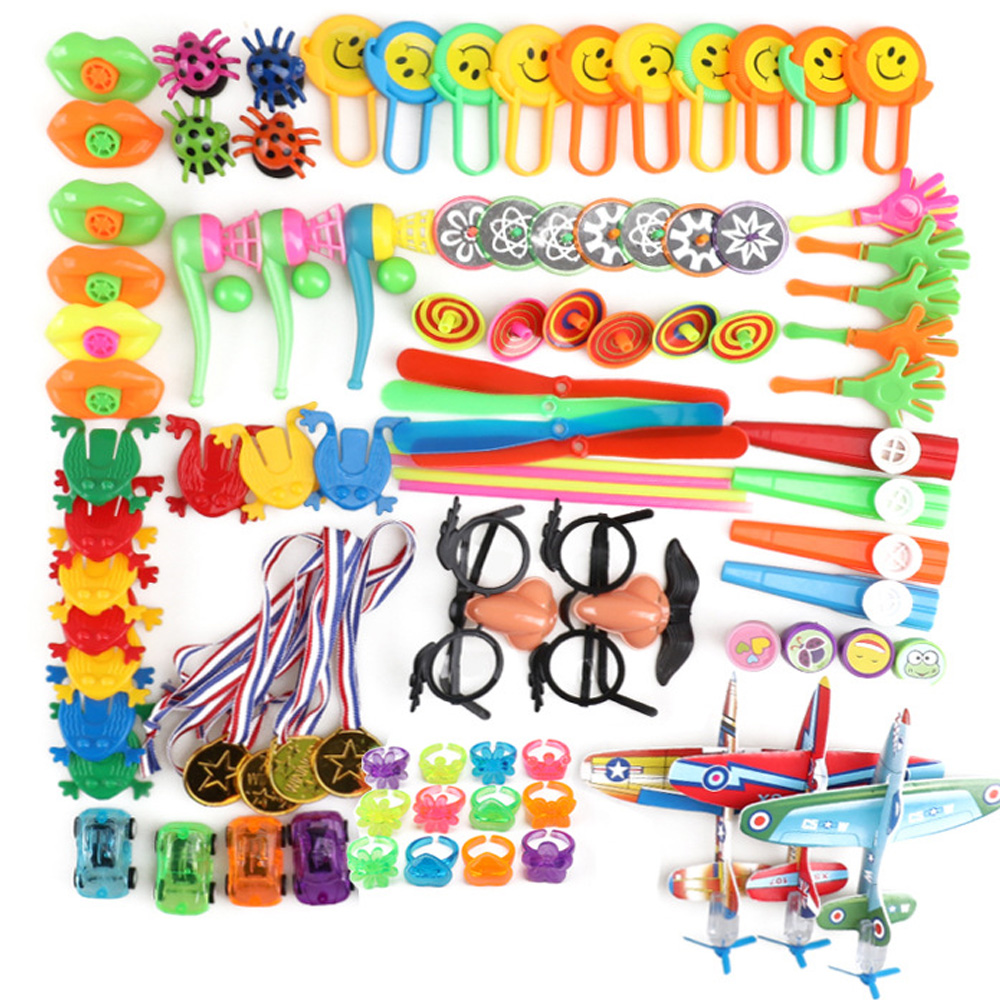 100PCS Birthday Party Favors Set Pinata Filler Goodie Bag Fillers Kids Birthday Giveaways Classroom Prizes Toys For Children