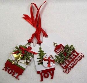 Image 4 - Piggy Ambachtelijke metalen stansmessen cut sterven mold 8 Stuks Kerst decoratie plakboek craft mes schimmel blade punch stencils sterven