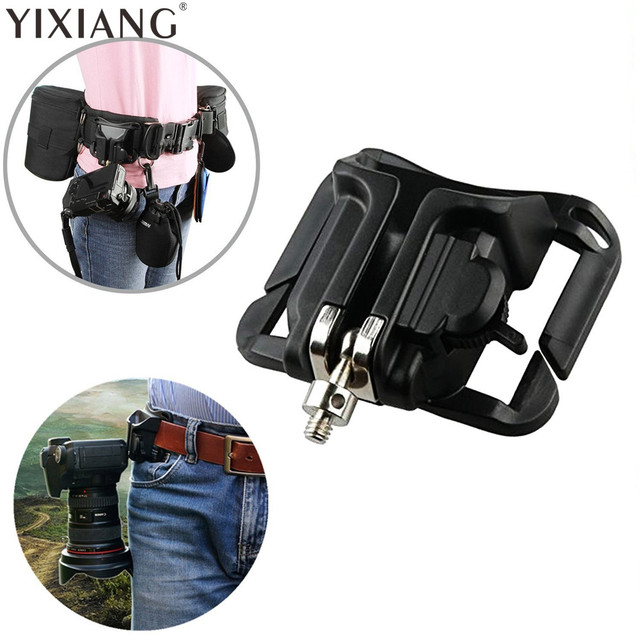 7af7593f0e75 YIXIANG Fast Loading Hanger Video dslr Camera Bag Quick Release Camera Waist  Belt Buckle Button Mount Clip for Digital