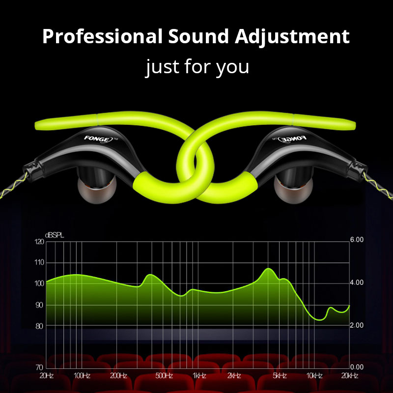 Original Sports Earphone Super Bass Headphones Sweatproof Running Headset With Mic Ear Hook For All Mobile Phone xiaomi
