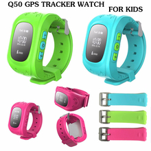 2016  Q50 Smart Kid Safe GPS Watch Wristwatch SOS Call Location Finder Locator Tracker For Kid Child Anti Lost Monitor Baby Gift