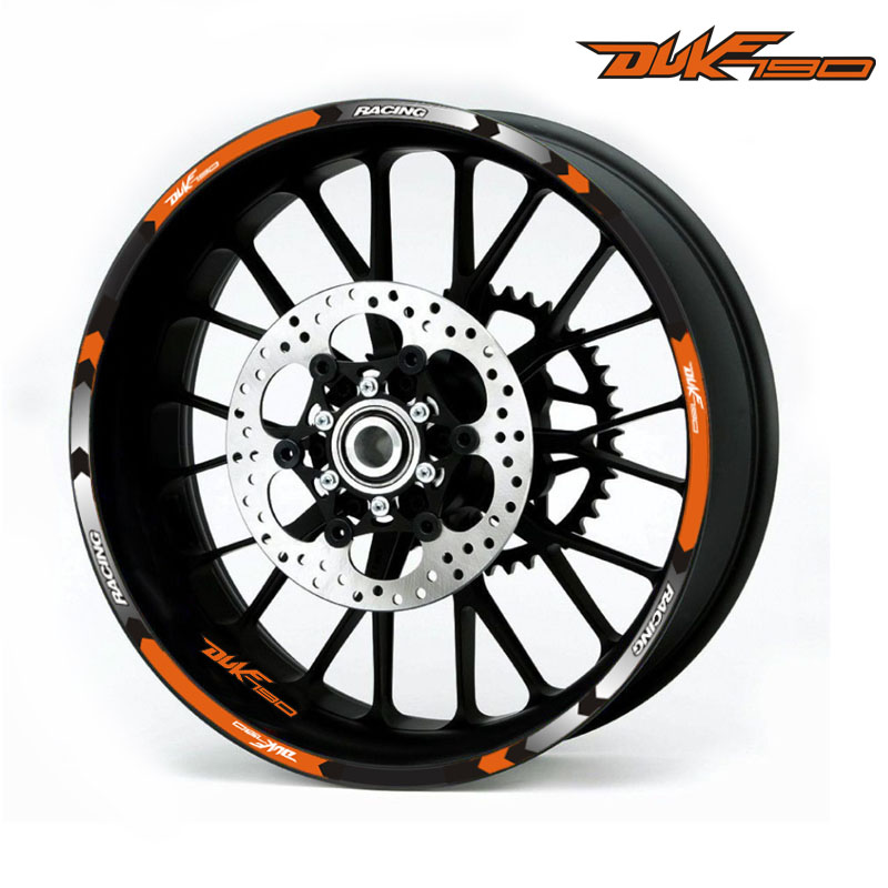 3 styles Motorcycles wheel <font><b>stickers</b></font> Reflective Rim moto Stripe Tape 17inch Reflective <font><b>sticker</b></font> For KTM <font><b>DUKE</b></font> 125 250 390 790 1290s image