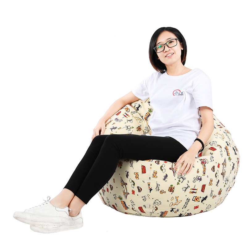 Children Sofa Cartoon Lounge Bean Bag Sofa Cover No Filler Cute Animal Lounger Chairs Couch Cover Lazy Sofa Outdoor 1pc