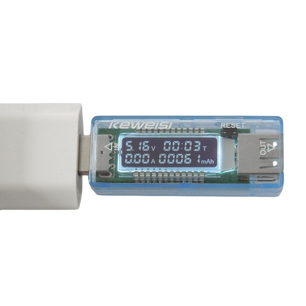 Mobil áram- és voltmérő ampermérő teljesítmény-tesztelő USB-töltő áramfeszültség-mérő töltődetektor