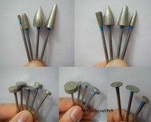 20 sztuk/zestaw laboratorium dentystyczne różne wiertła diamentowe frezy wiertło zębate jubilerzy 2.35mm nowy