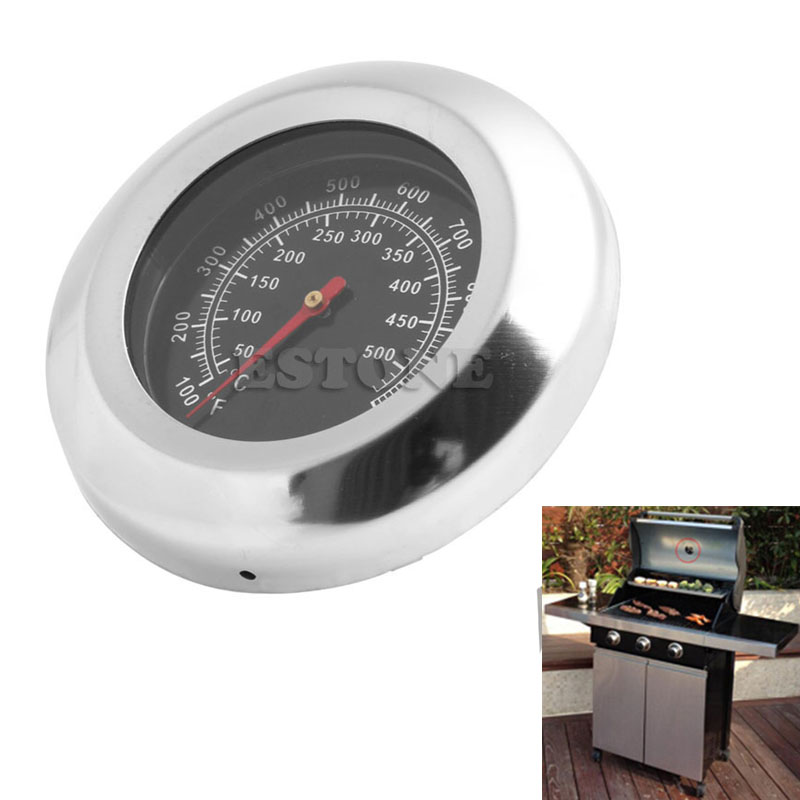 50-500 Celsius BBQ Meat <font><b>Thermometer</b></font> Kitchen Oven Grill Temperature Gauge 100~<font><b>1000</b></font> Fahrenheit <font><b>degree</b></font> New image