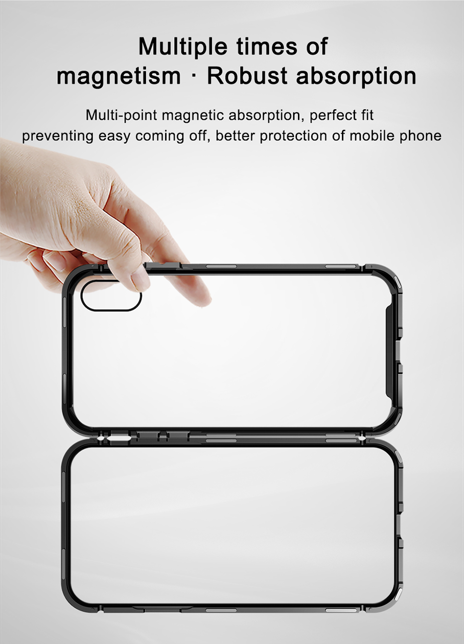 Magnetic Frame Tempered Glass