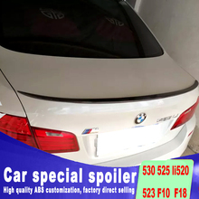 For BMW 530 525li 520 523 F10 F18 2012 to 2015 high quality ABS material spoiler rear trunk wing rear spoiler by primer or DIY цена