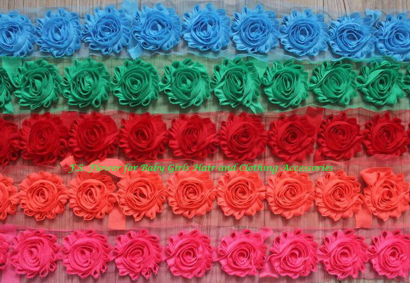 Free DHL 50y 2 5 Shabby Flowers for Girl Hair Accessories Hairband Headband Hair Clip Flowers