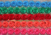 """Free DHL 50y 2.5"""" Shabby Flowers for Girl Hair Accessories,Hairband Headband Hair Clip Flowers for Kids Hair Accessories"""