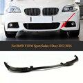 Спойлер для переднего бампера из углеродного волокна для BMW F10 M Sport 528i 530i 535i 550i Sedan 4 двери 2012-2016
