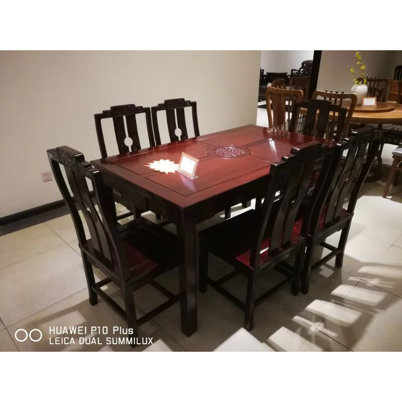 Marvelous Us 5500 0 153 87Cm Square Table Dining Table Redwood Furniture Set Rosewood Wood Table Chair Kitchen Furniture 7Pcs Set Nm007 In Dining Room Sets Theyellowbook Wood Chair Design Ideas Theyellowbookinfo