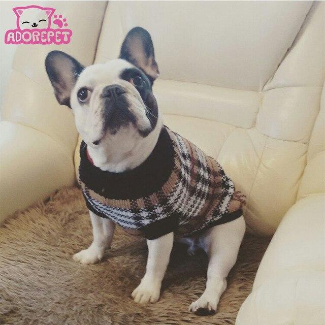 Vintage Plaid mascotas ganchillo suéter sweatershirt pullover ...