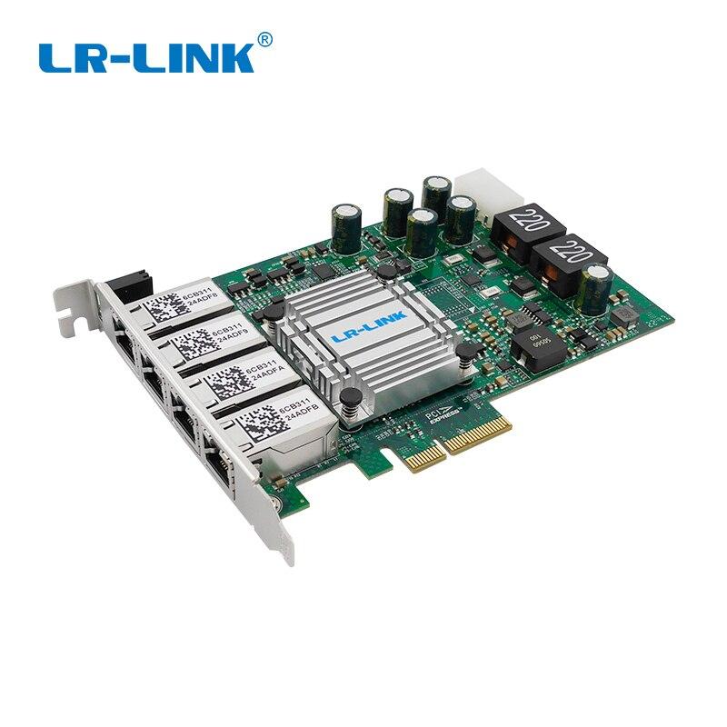 LR-Link 9724HT-POE POE+ Gigabit Ethernet Frame Grabber Quad Port PCI Express RJ45 Video Capture Card Intel I350 Nic