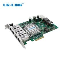LR   Link 9724HT POE POE + Gigabit Ethernet กรอบ Grabber Quad Port PCI Express RJ45 Video Capture Card Intel I350 nic