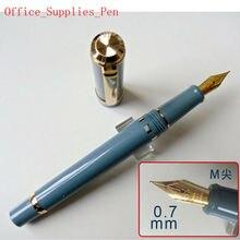 2019 modeli kanat Sung 698 Piston Teal dolma kalem mürekkep kalem M Nib (0.7mm) kırtasiye ofis okul malzemeleri penna stilografica