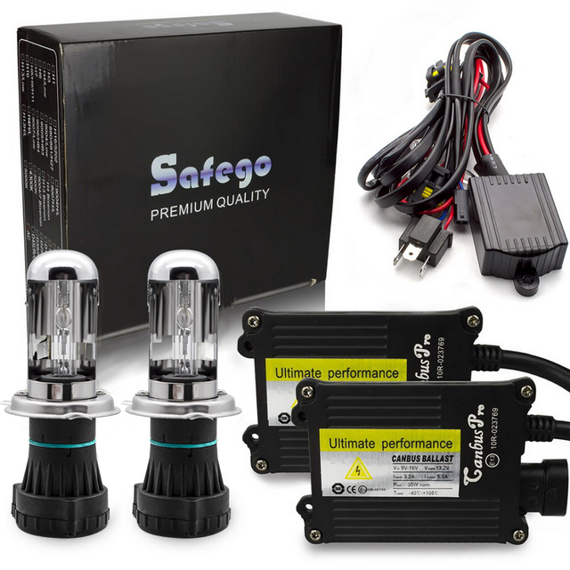 Safego バイキセノン H4 プロ canbus HID キセノンキット 12V AC 4300 18K 5000 18K 6000 18K 8000 18K 10000 18K H4 3 ハイロー H4 バイキセノンキット H4 bixenon hid キット