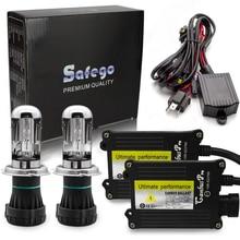 Safego kit xénon bi xénon H4 pro canbus HID, kit xénon caché 12V AC 4300K 5000K 6000K 8000K 10000K H4 3 K Hi Lo H4