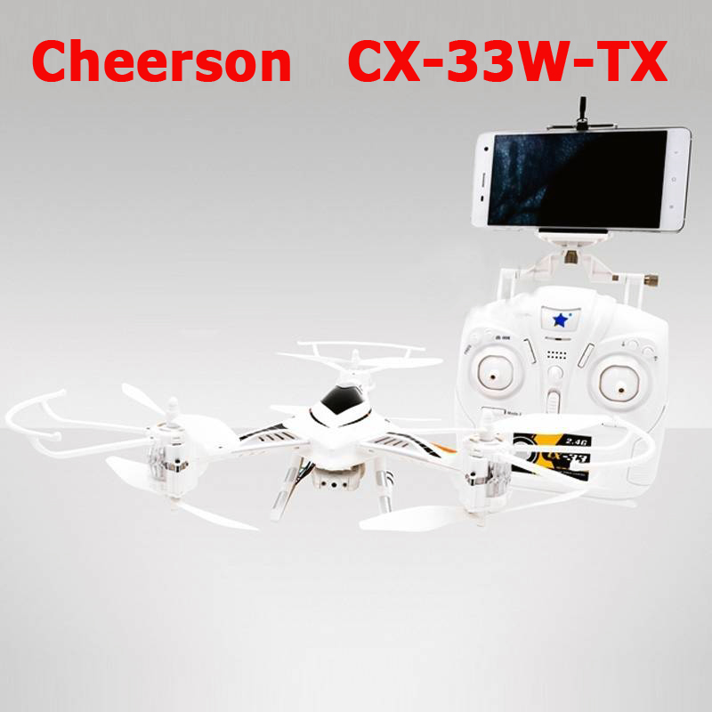 Cheerson CX-33W CX33W One-Key-return & Take Off Barometer Set High RC Quadcopter With 720P HD Camera WIFI FPV RC Tricopter RTF cheerson cricket cx 17 mini wifi fpv rc quadcopter rtf black