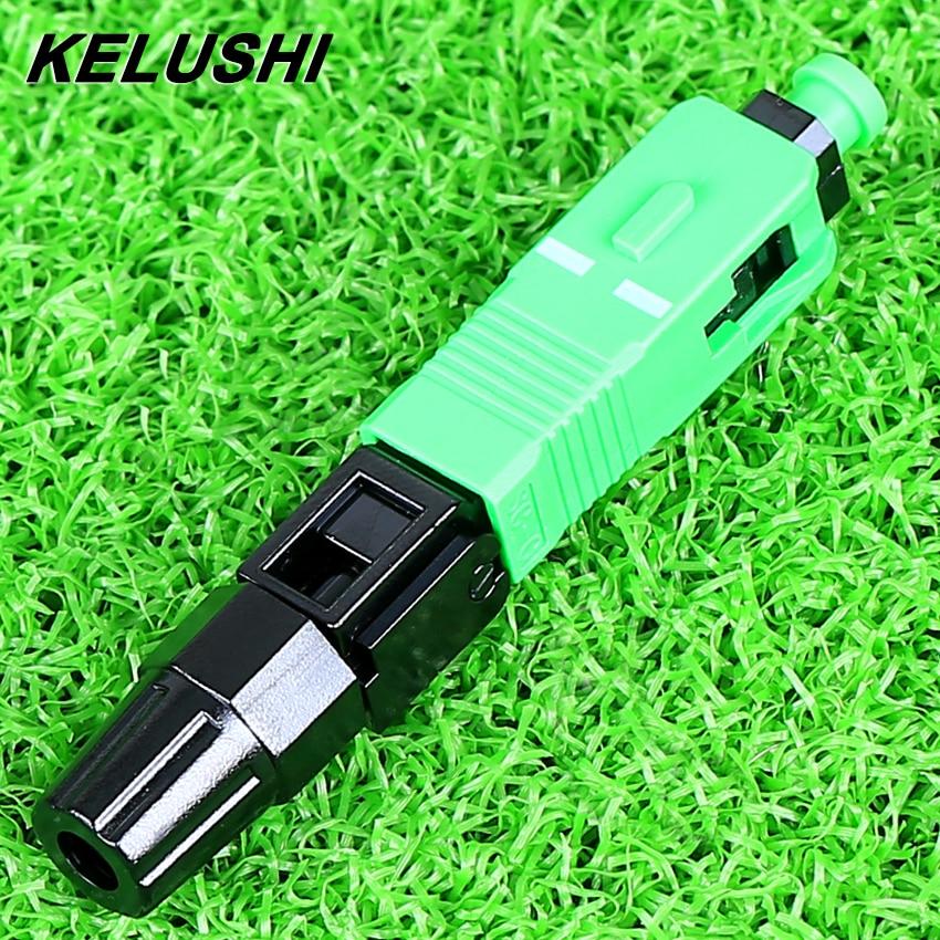 KELUSHI Haute Qualité 100 pcs/lot Fiber Optique Froid Connecteur en gros SC APC Rapide Splicer SC/APC Adaptateur expédition rapide